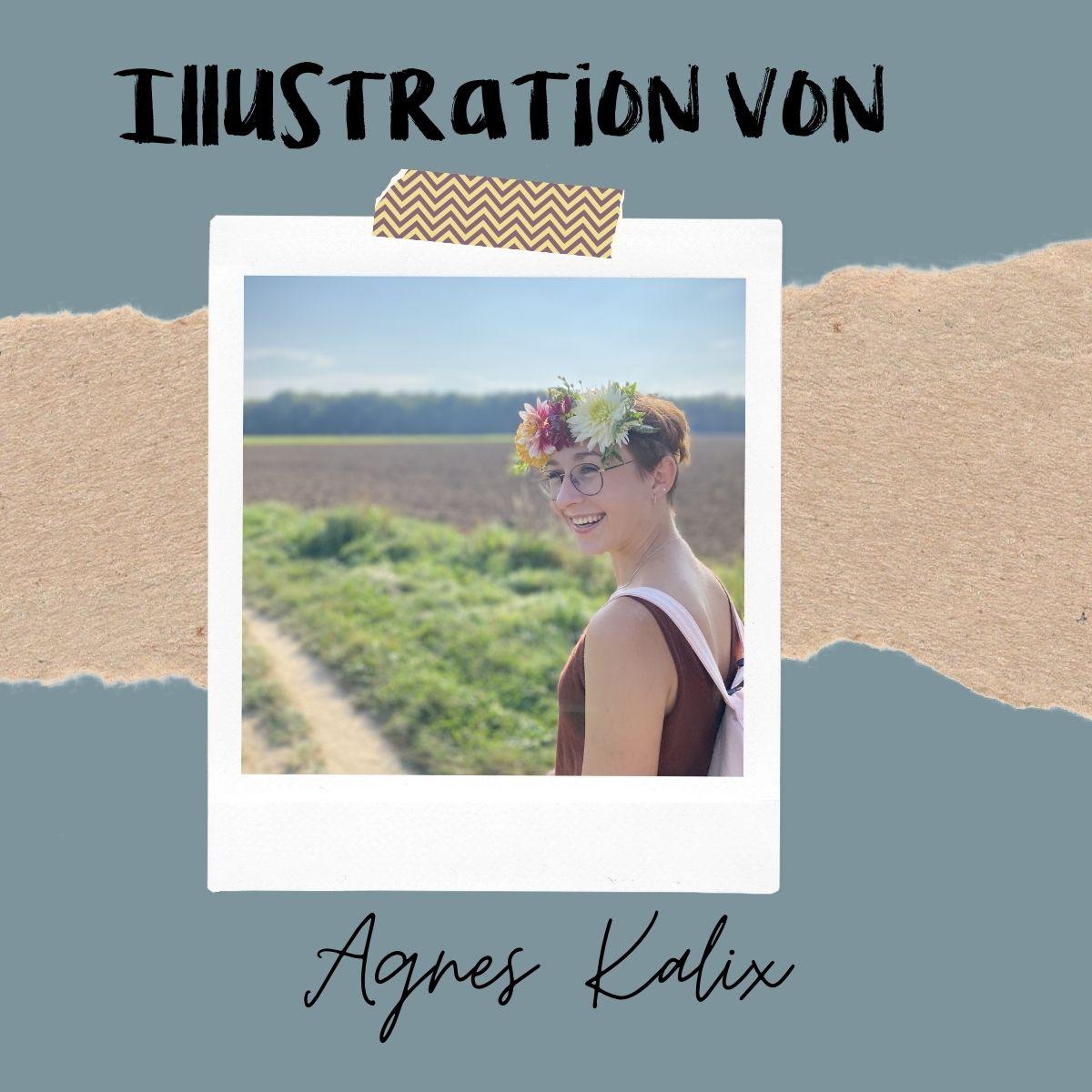 Illustratorin einer Wachsenden Kunst Karte Agnes