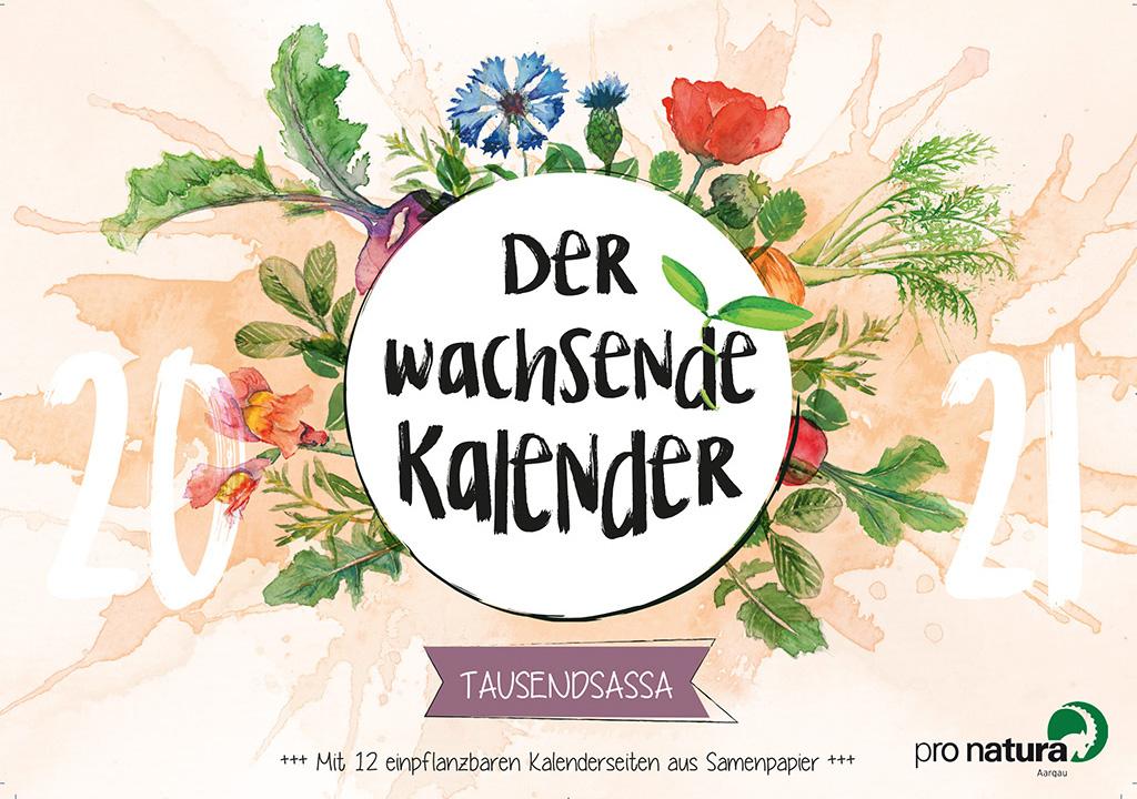 Wachsender Kalender B2B Werbemittel für pro natura