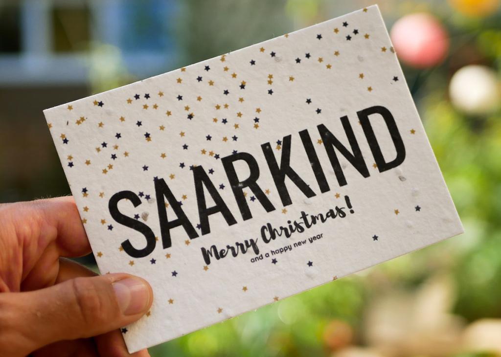 Weihnachts B2B Grußkarte aus Samenpapier von primoza für Saakind