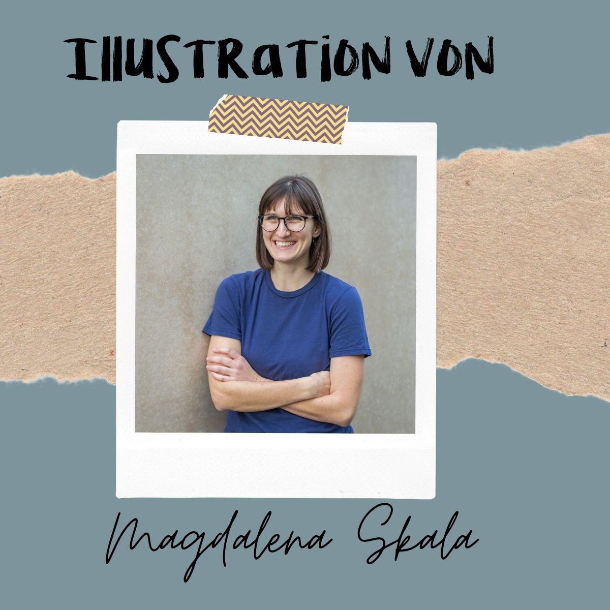 Illustratorin einer Wachsenden Kunst Karte Magdalena