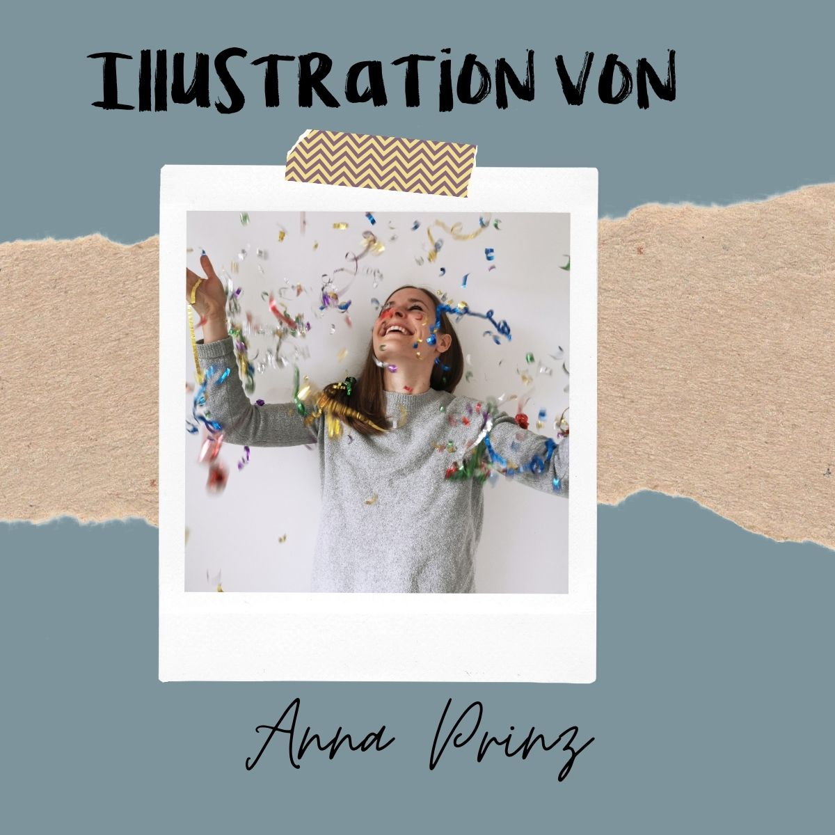 Illustratorin einer Wachsenden Kunst Karte Anna