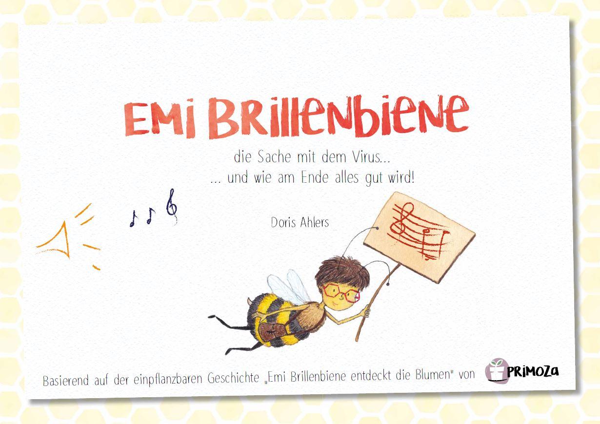 Titelseite des Musicals Emi Brillenbiene für Kindergärten und Kitas