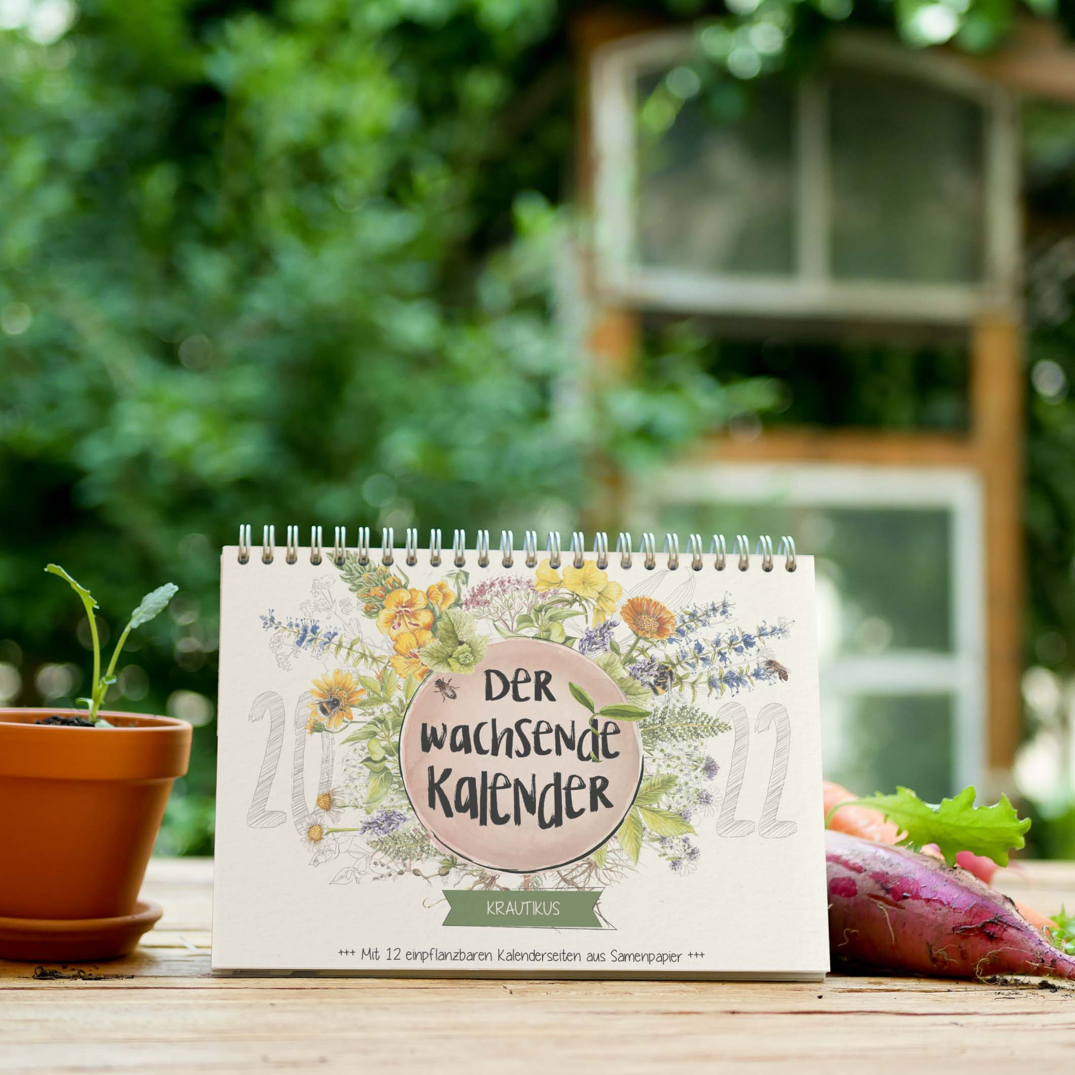 "Wachsender Kalender Kräuter ""Krautikus"""