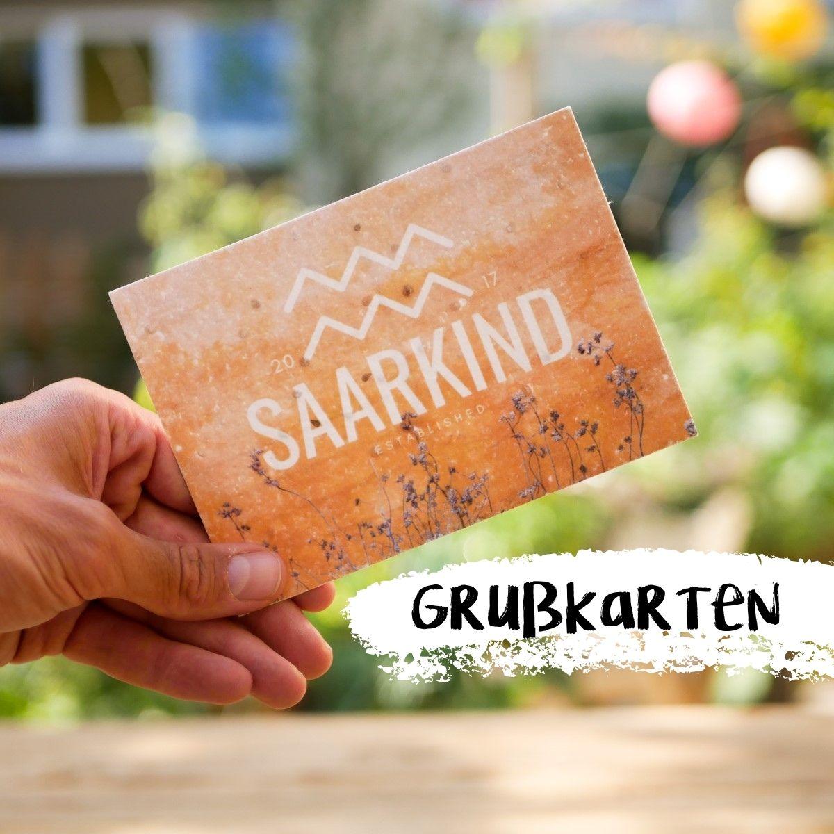 einpflanzbare Grußkarten aus Samenpapier personalisiert für B2B Kunden von primoza
