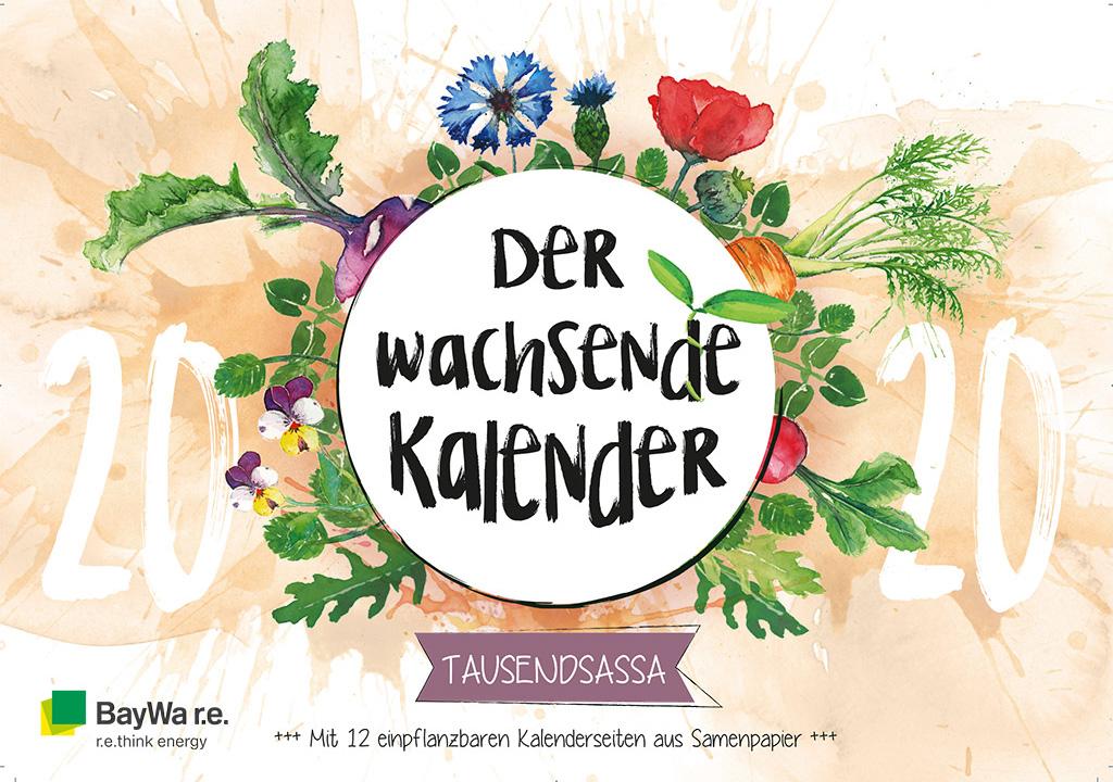 Wachsender Kalender B2B Werbemittel für BayWa re